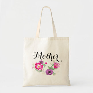 Mother's Day Watercolor Flowers Tote