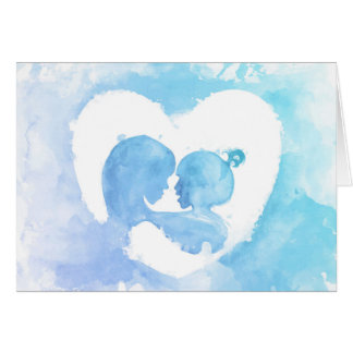 Mother's Day - Watercolor Mother & Child Card