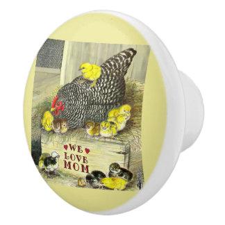 Mother's Day:  We Love Mom! Ceramic Knob