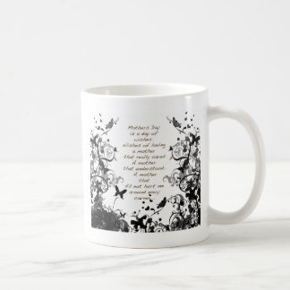 Mothers day wishes black coffee mugs