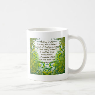 Mothers day Wishes Green Yellow Coffee Mugs