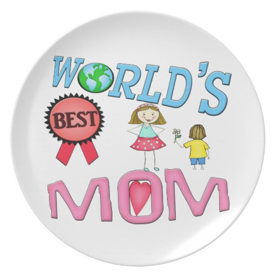 Mother's Day World's Best Mum Plate