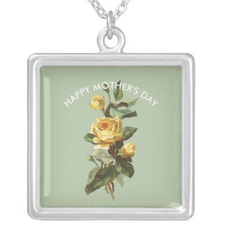 Mother's Day Yellow Rose Pendant