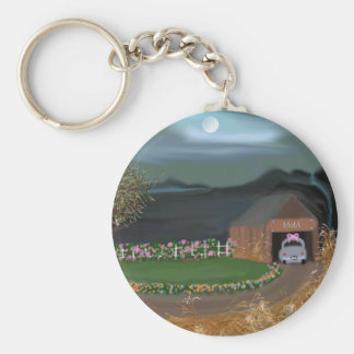 Mothers Garden Basic Round Button Key Ring