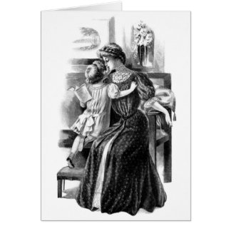 Mother's Love - Edwardian Fashion Greeting Card