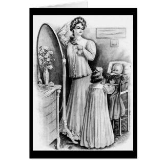 Mother's Love - Edwardian Fashions Greeting Card