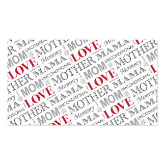Mother's Love, Mother's Day or Birthday Pattern Pack Of Standard Business Cards