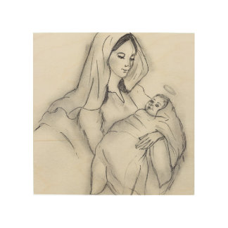 Mothers Love Wood Print