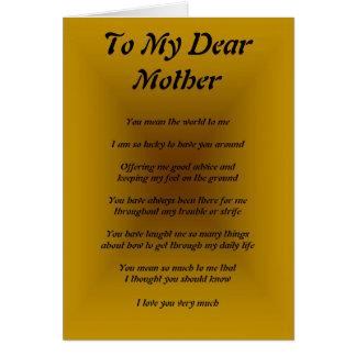 Mother's Poem Card