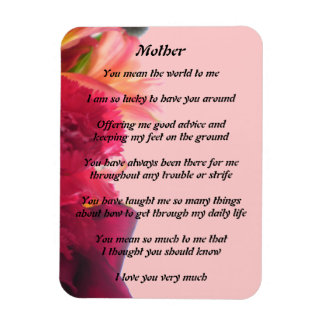 Mothers Poem Magnet