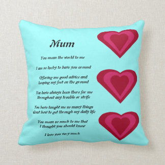 Mother's Poem pillow