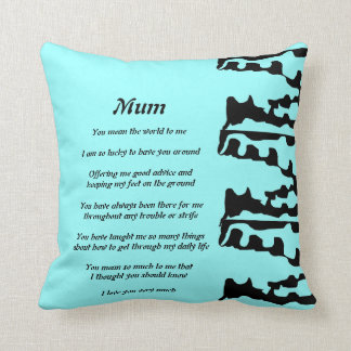 Mother's Poem pillow Cushion