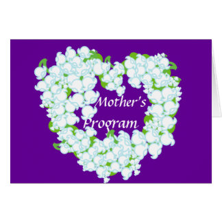 Mother's Program-Customize Greeting Card