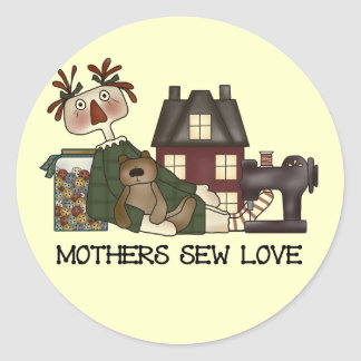 Mothers Sew Love T shirts and Gifts Classic Round Sticker