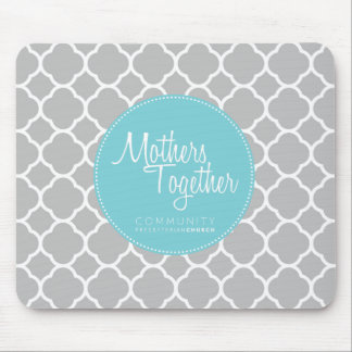 Mothers Together Blue Logo Mouse Pad