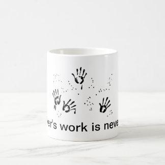 Mother's Work Classic White Coffee Mug