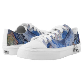 Mothersday whale printed shoes