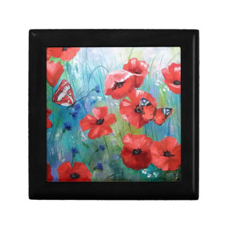 moths and butterflies small square gift box