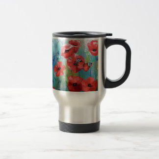 moths and butterflies stainless steel travel mug