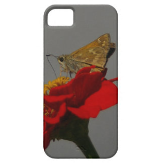 Moths and Red Zinnia Barely There iPhone 5 Case