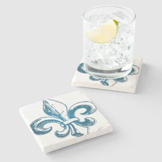 Motif Seigneur Francais Peuple Québec Fleur de Lys Stone Coaster