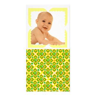 motifs formes géométriques patterns custom photo card