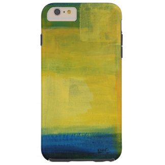 """Motion"" Blue and Yellow iPhone 6/6s Plus, Tough Tough iPhone 6 Plus Case"