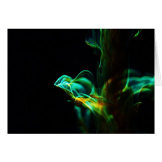 Motion/Fluorescein in water Greeting Card