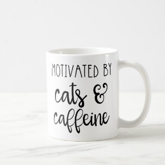 Motivated by Cats & Caffeine Coffee Mug