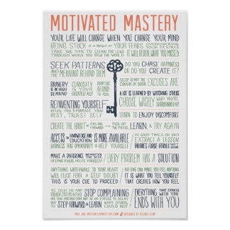 Motivated Mastery Manifesto (11x16 inches) Poster
