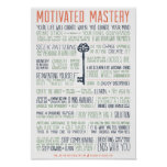 Motivated Mastery Manifesto (11x16 inches) Print