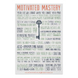 Motivated Mastery Manifesto (24x36 inches) Posters