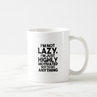 Motivated Not To Do Anything Coffee Mug