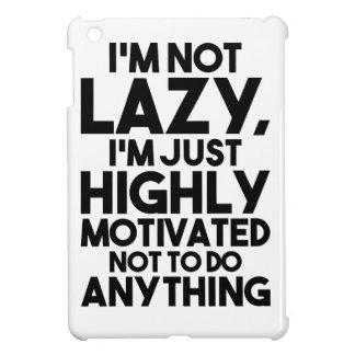 Motivated Not To Do Anything iPad Mini Cover