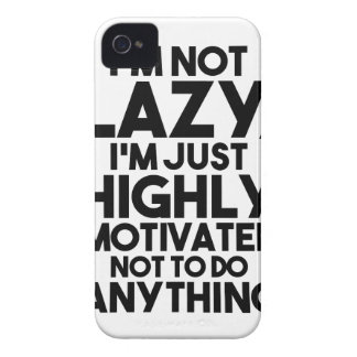 Motivated Not To Do Anything iPhone 4 Covers