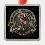 Motivated Paintball Square Metal Christmas Ornament