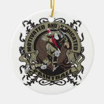 Motivated Paintball Double-Sided Ceramic Round Christmas Ornament