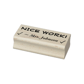 "Motivating ""NICE WORK!"" Educator Rubber Stamp"