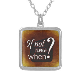 Motivation-343h Silver Plated Necklace