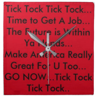 Motivation Clock Napkin
