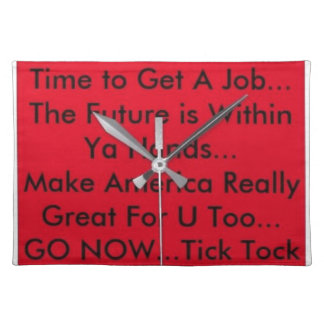 Motivation Clock Placemat
