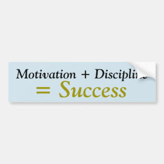 Motivation + Disicipline = Success sticker