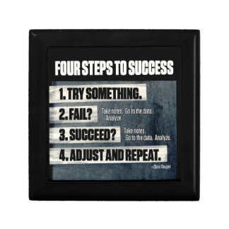 Motivation - Four Steps To Success - Inspirational Gift Box