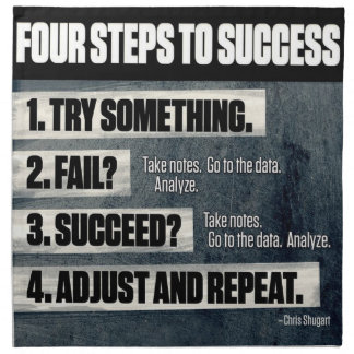 Motivation - Four Steps To Success - Inspirational Napkin