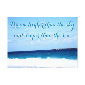 Motivation quote on Ocean Canvas Print
