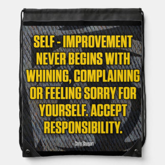 Motivation - Self-Improvement - Inspirational Drawstring Bag