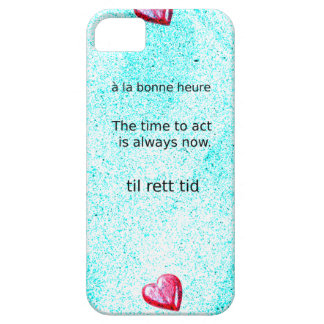 Motivation: The time to act is always now. Barely There iPhone 5 Case