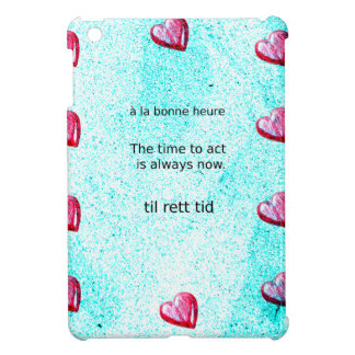 Motivation: The time to act is always now. iPad Mini Cover