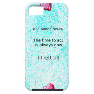 Motivation: The time to act is always now. iPhone 5 Case