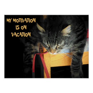 Motivation vacation poster